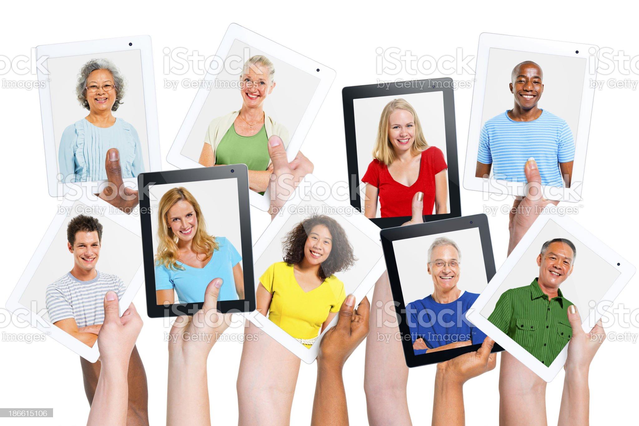 Network Communication royalty-free stock photo