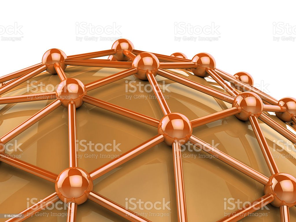Network Computer Indicates Global Communications And Globalize stock photo