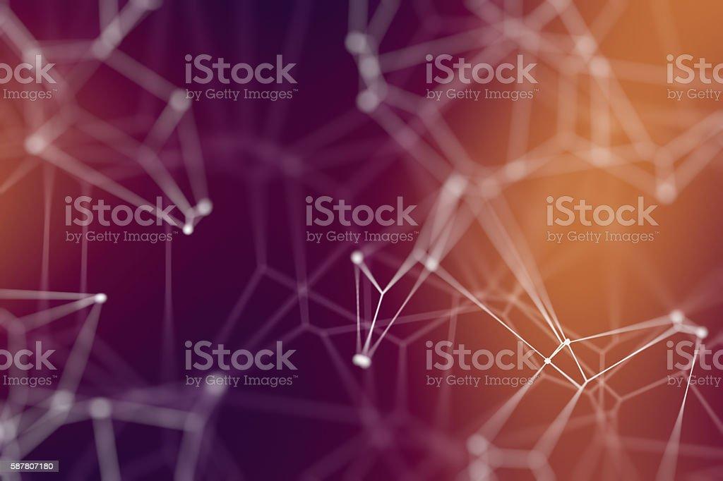 Network conceptual illustration stock photo