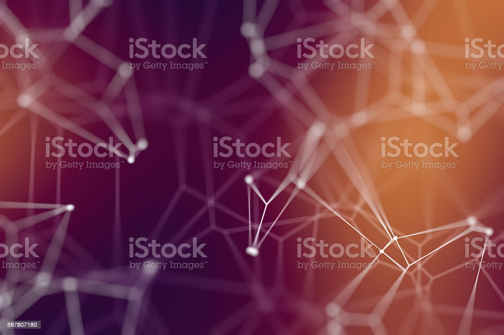 Network conceptual illustration stock photo