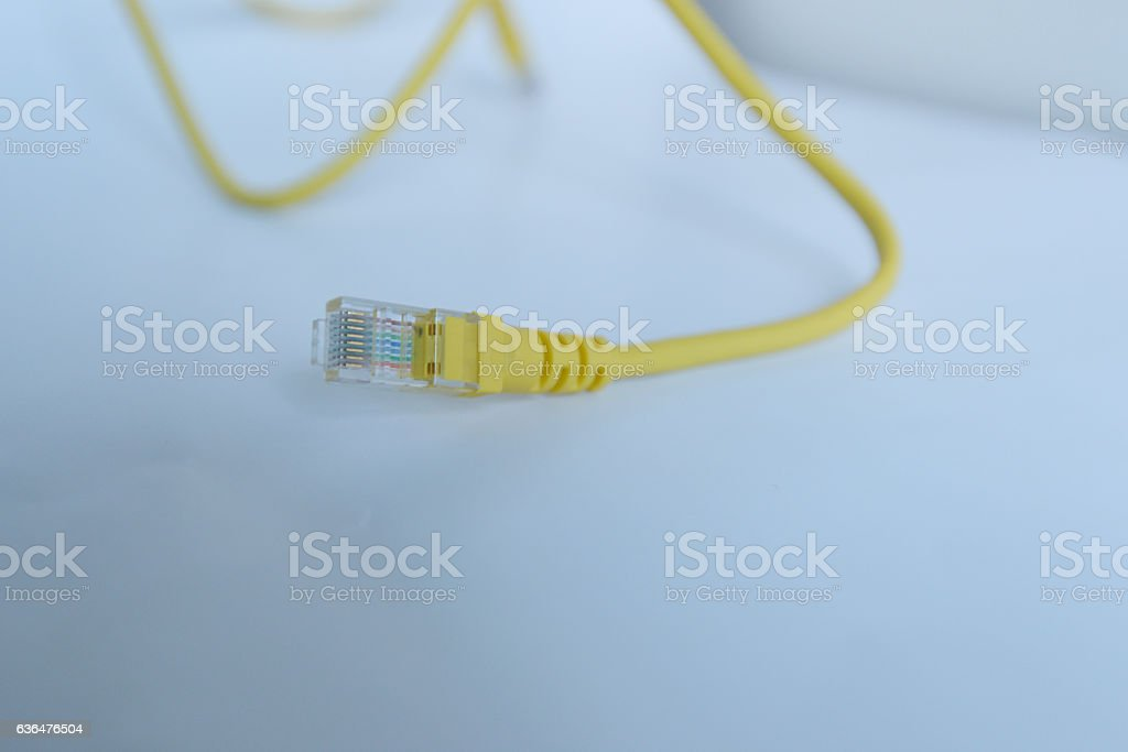 LAN network connection stock photo