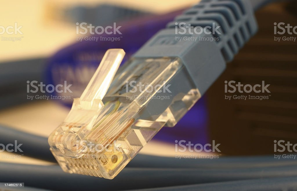Network connection plug royalty-free stock photo
