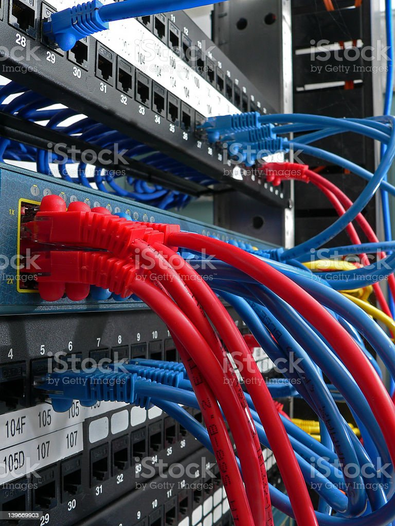 Network connections stock photo
