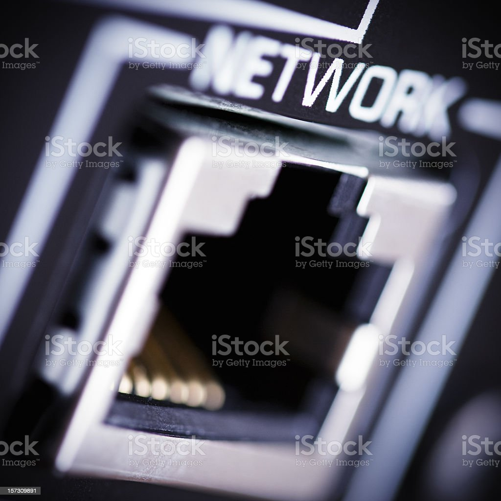 LAN network connector stock photo