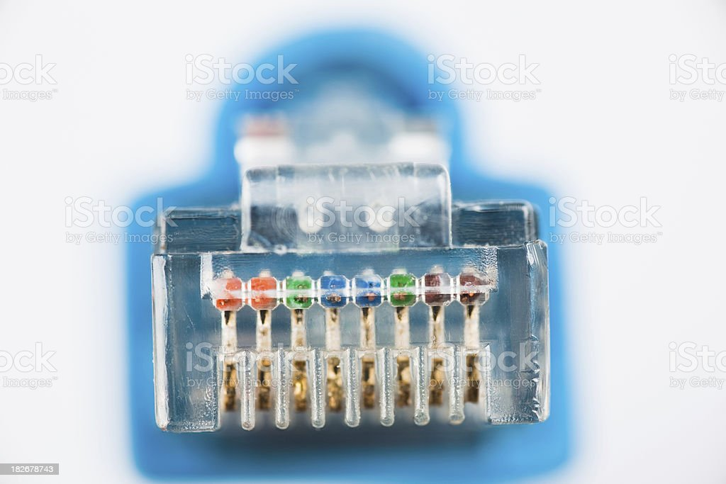 Network connector royalty-free stock photo