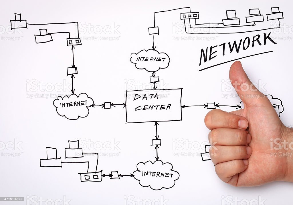 Network Diagram stock photo