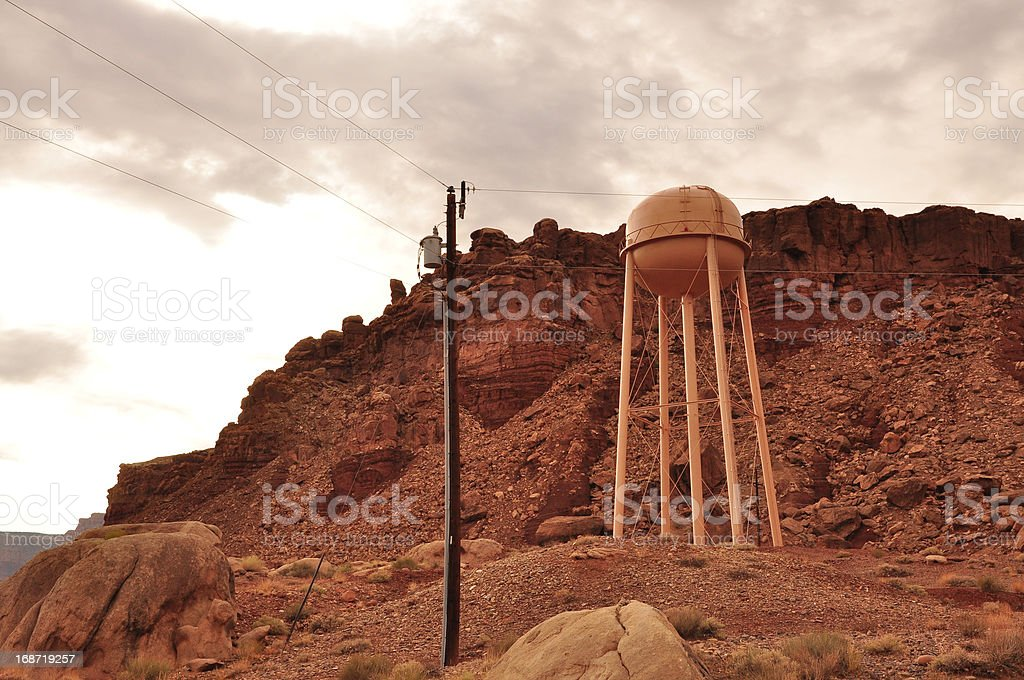 Network electricity pole royalty-free stock photo