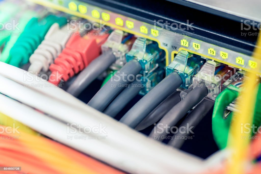 Network ethernet active switch stock photo