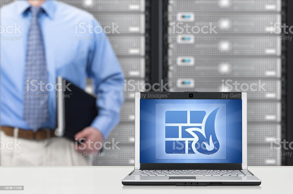 Network Firewall Concept royalty-free stock photo