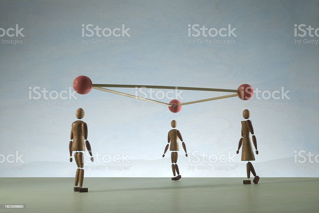 Network Group royalty-free stock photo