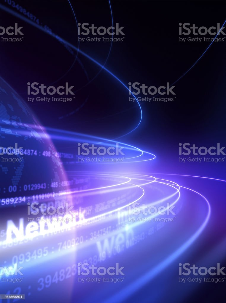 Network in the space stock photo