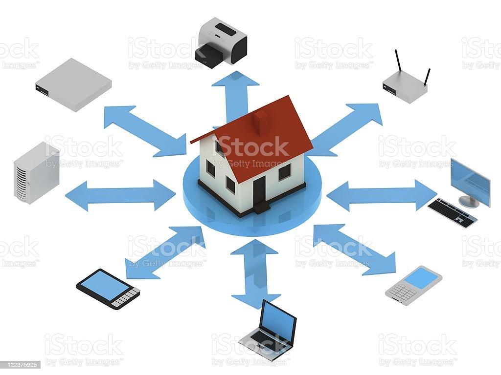 Network - Isometric royalty-free stock photo