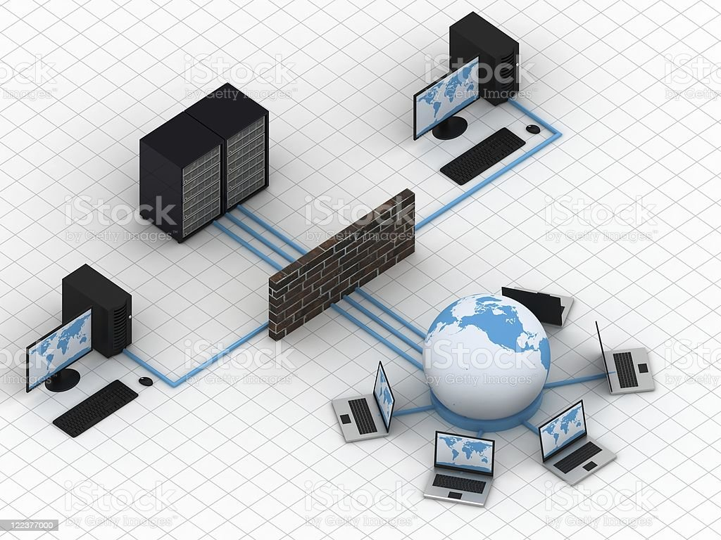 Network - Isometric royalty-free stock photo
