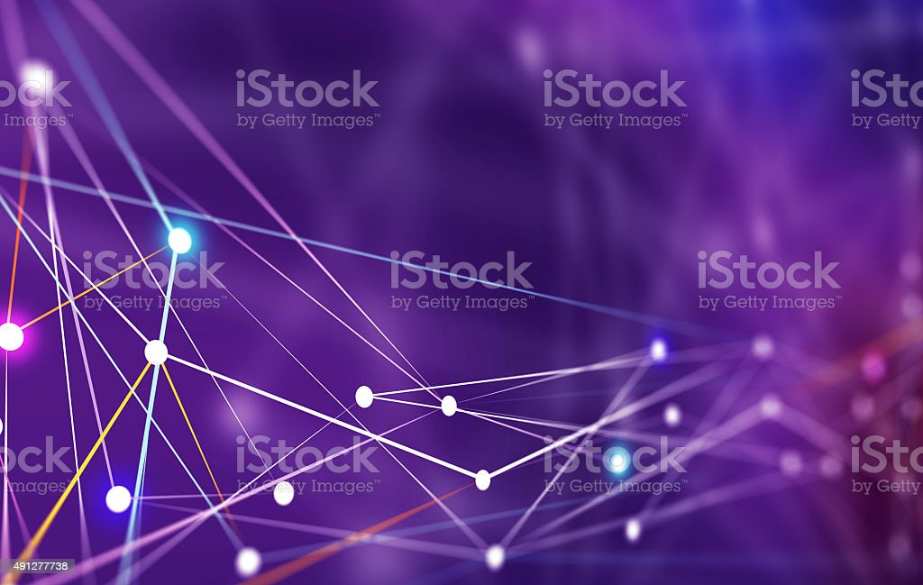 Network Lines Connecting to Servers stock photo