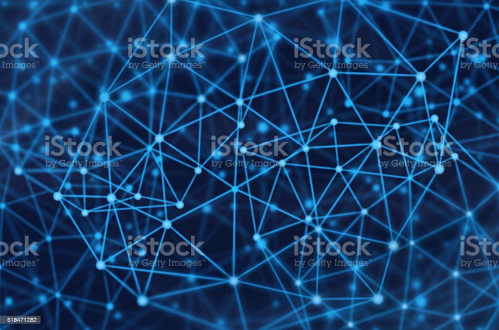 network molecules stock photo