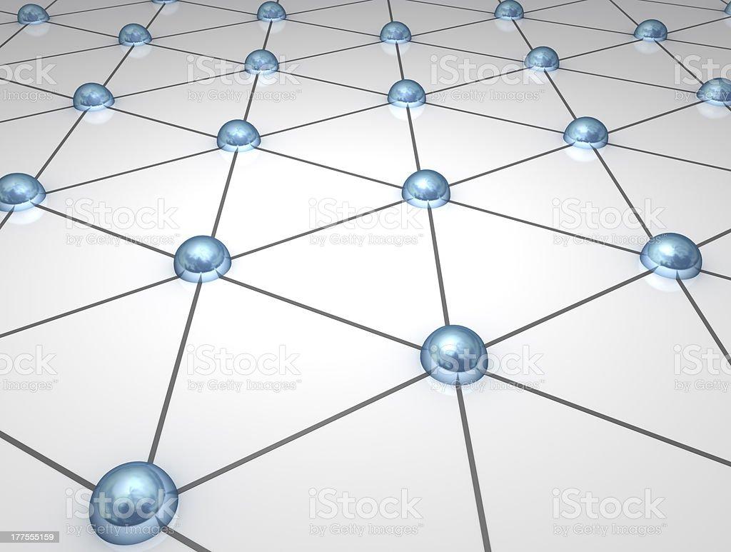 3D network nodes royalty-free stock photo