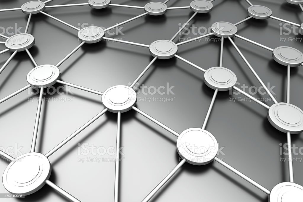 Network Nodes stock photo