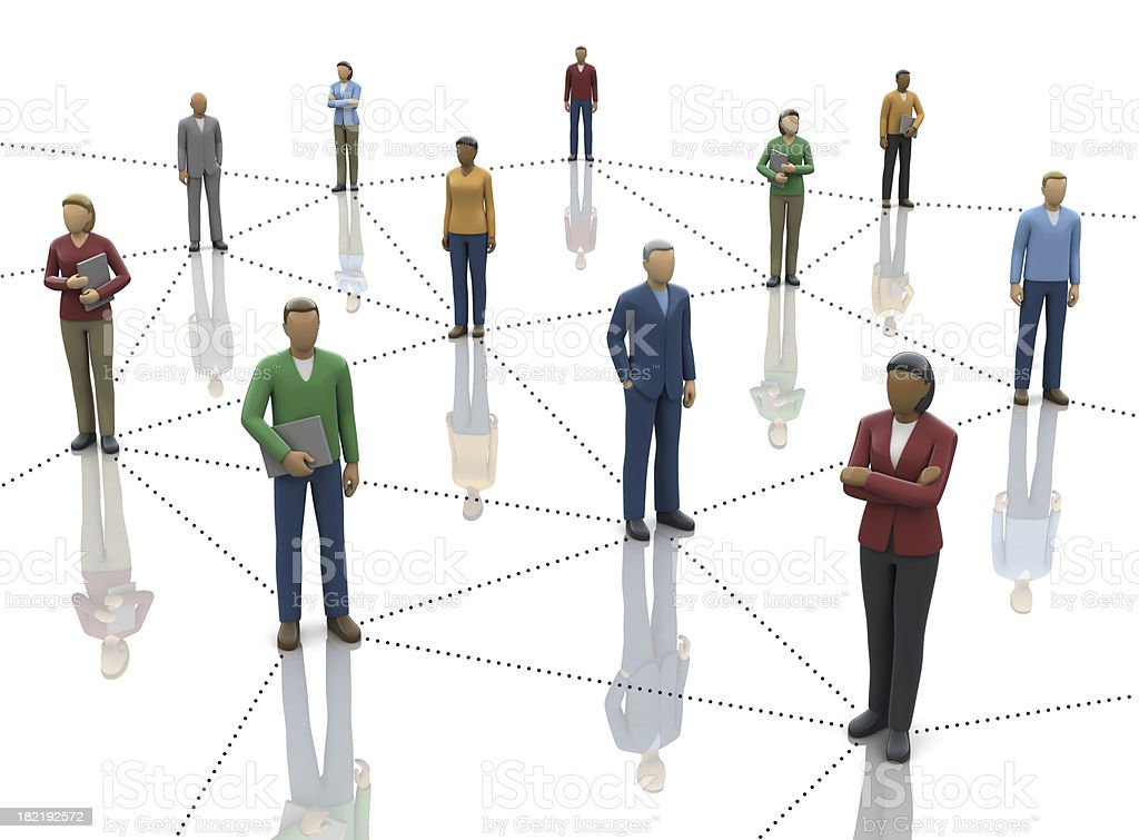 Network of Business People royalty-free stock photo