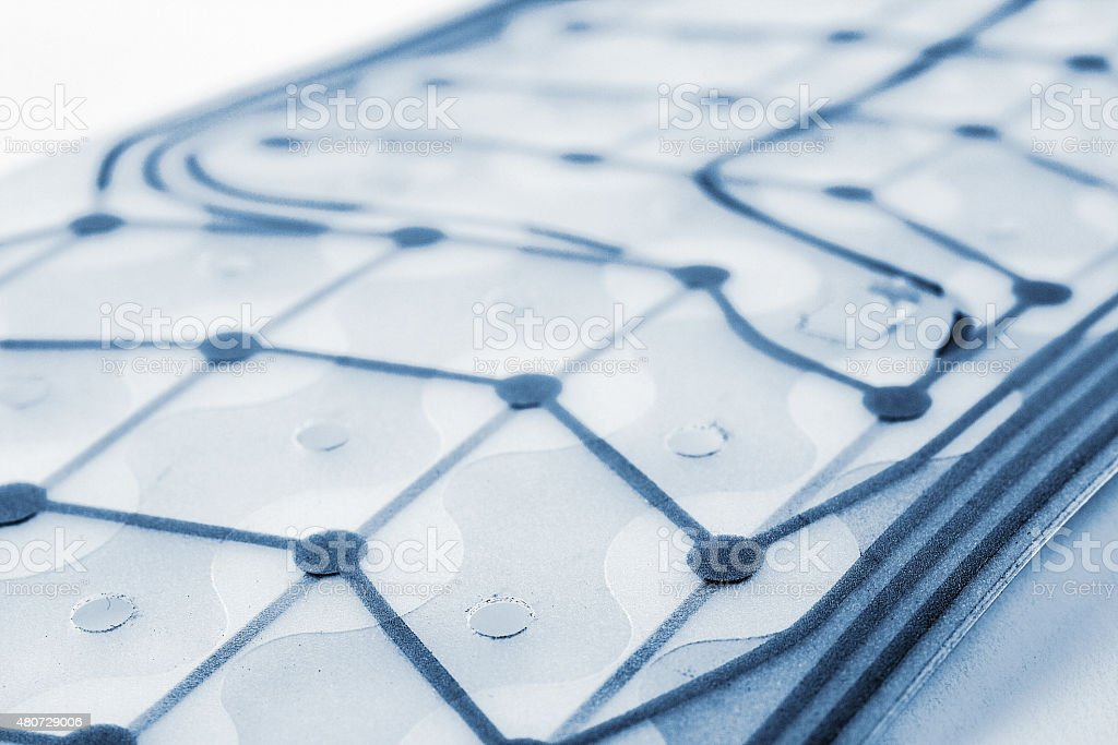 Network of nodes stock photo