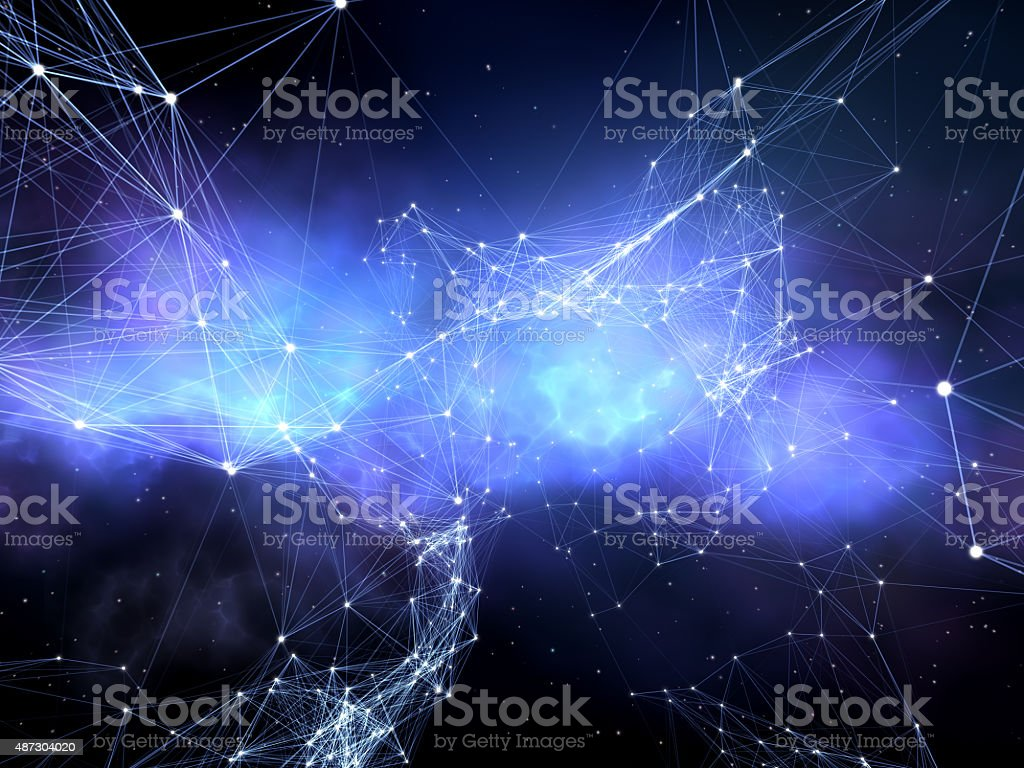 Network of stars. stock photo