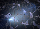 network of triangles