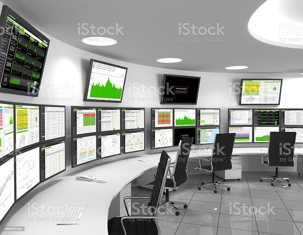 Network Operations Center stock photo