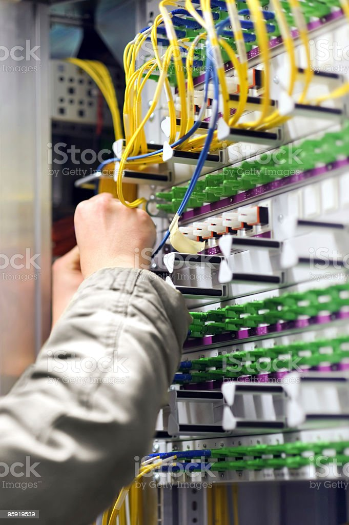 Network Patchwork Connecting royalty-free stock photo