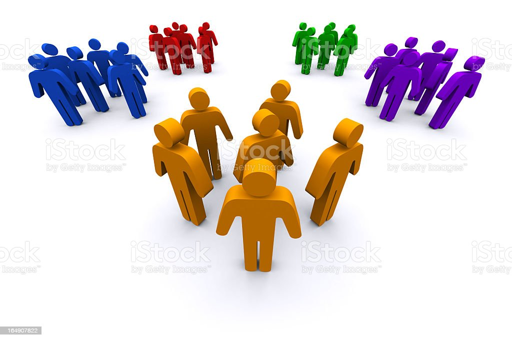 Network People royalty-free stock photo