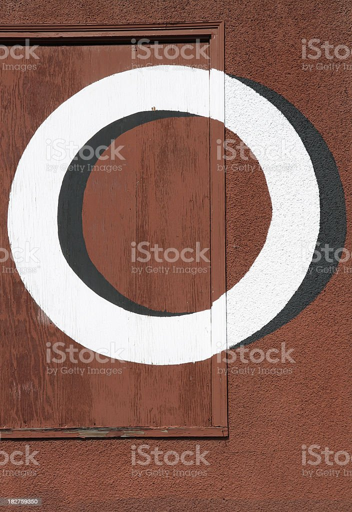 Red O royalty-free stock photo