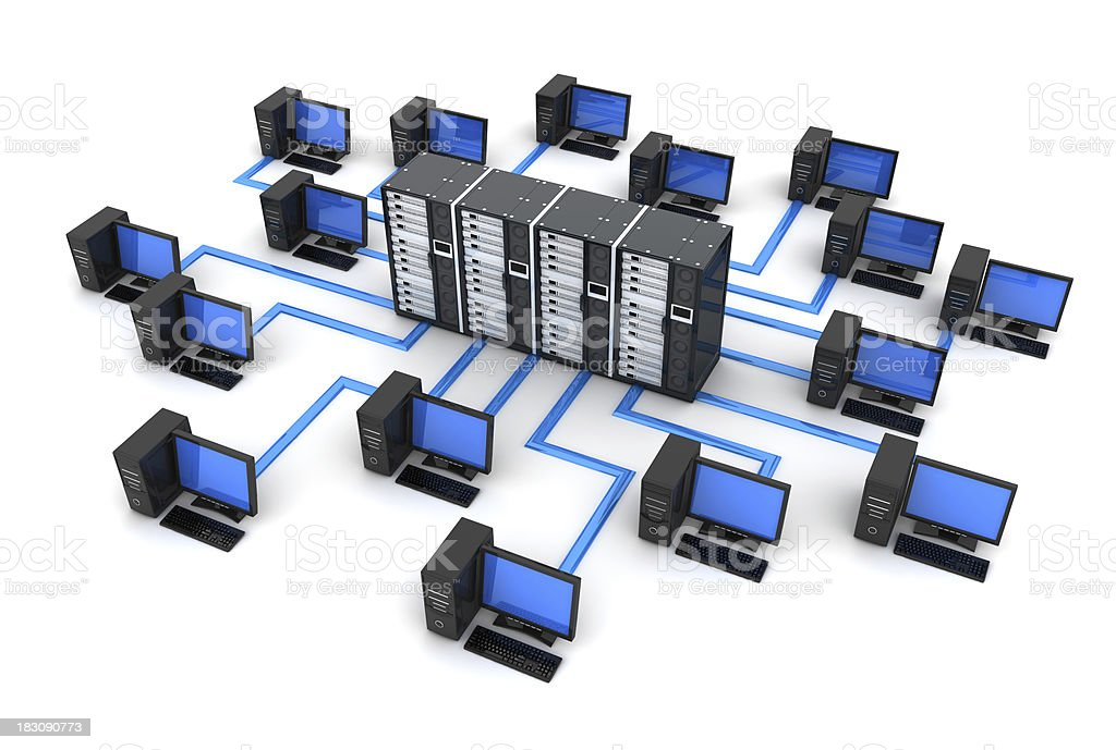 PC Network royalty-free stock photo