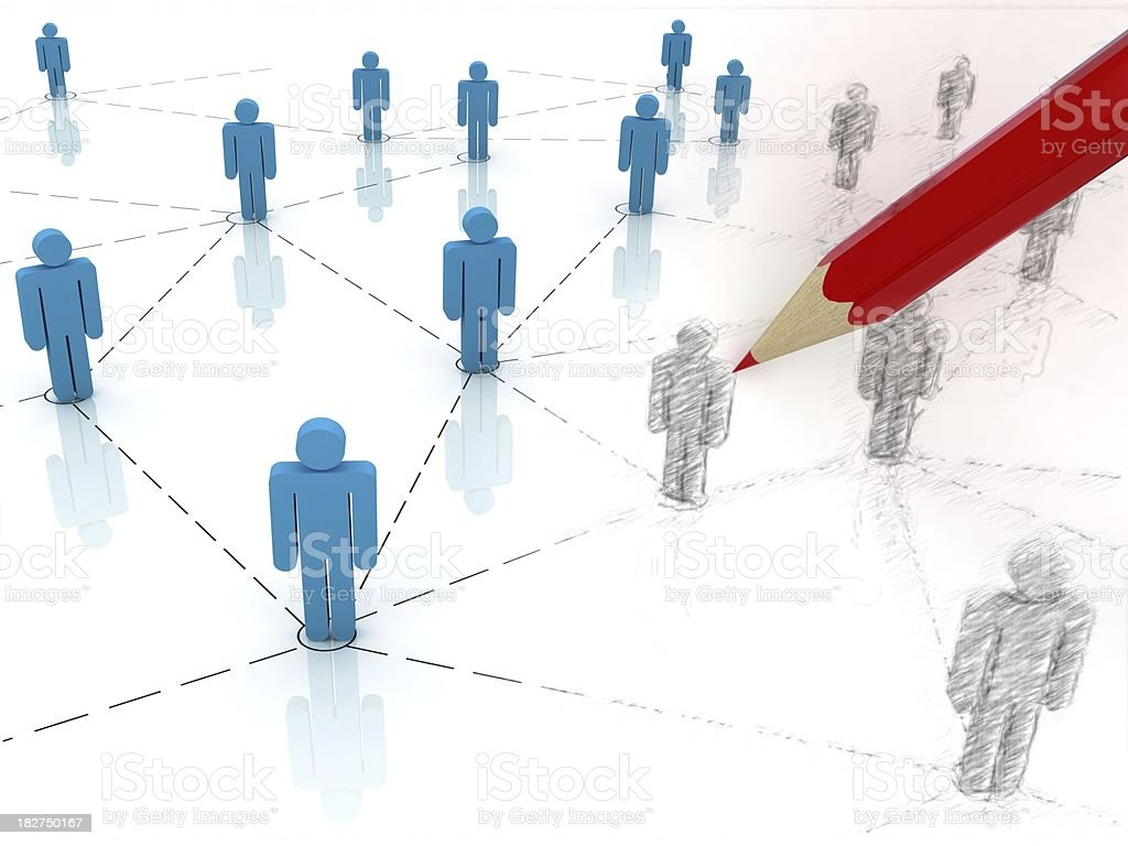 Network Planning royalty-free stock photo