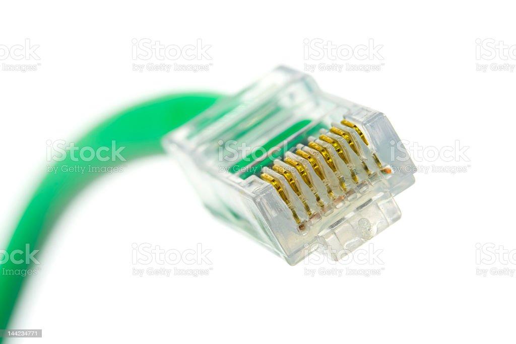 Network plug isolated on white royalty-free stock photo