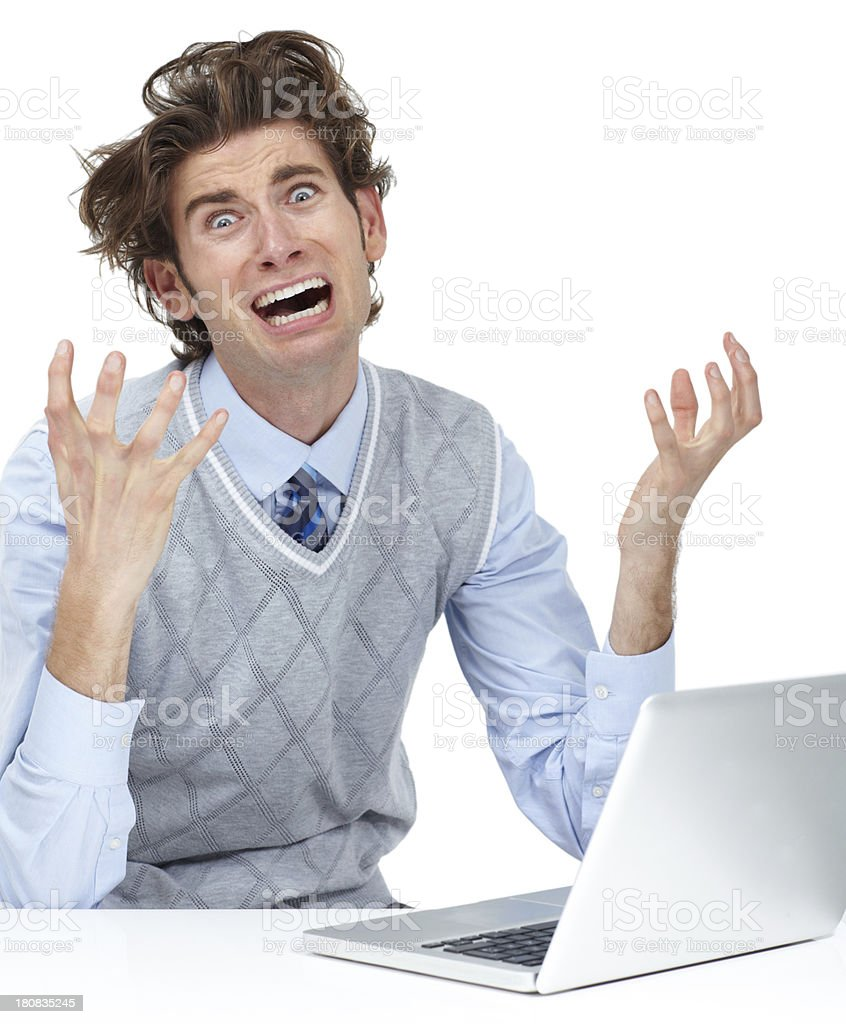 Network problems can drive you insane! royalty-free stock photo