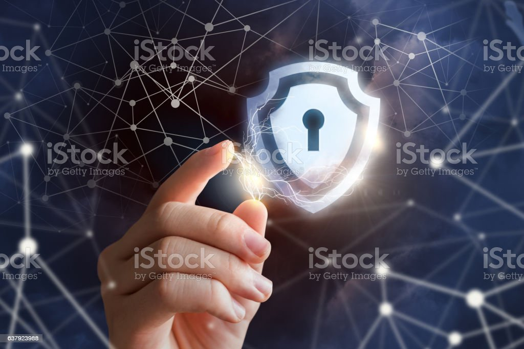 Network protection. stock photo