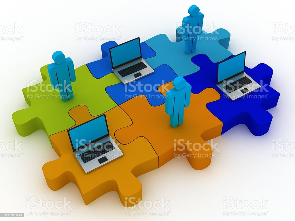 Network Puzzle royalty-free stock photo