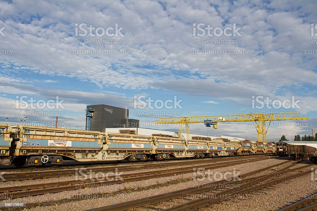 Network Rail Engineering Depot stock photo