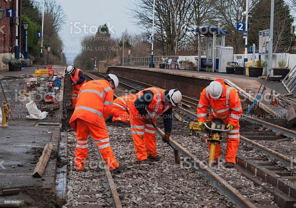 Network Rail maintenance team at work stock photo