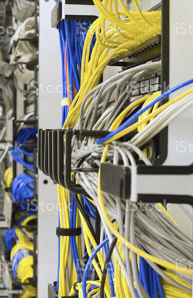 Network Room royalty-free stock photo