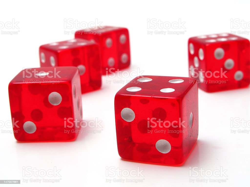 red dice royalty-free stock vector art
