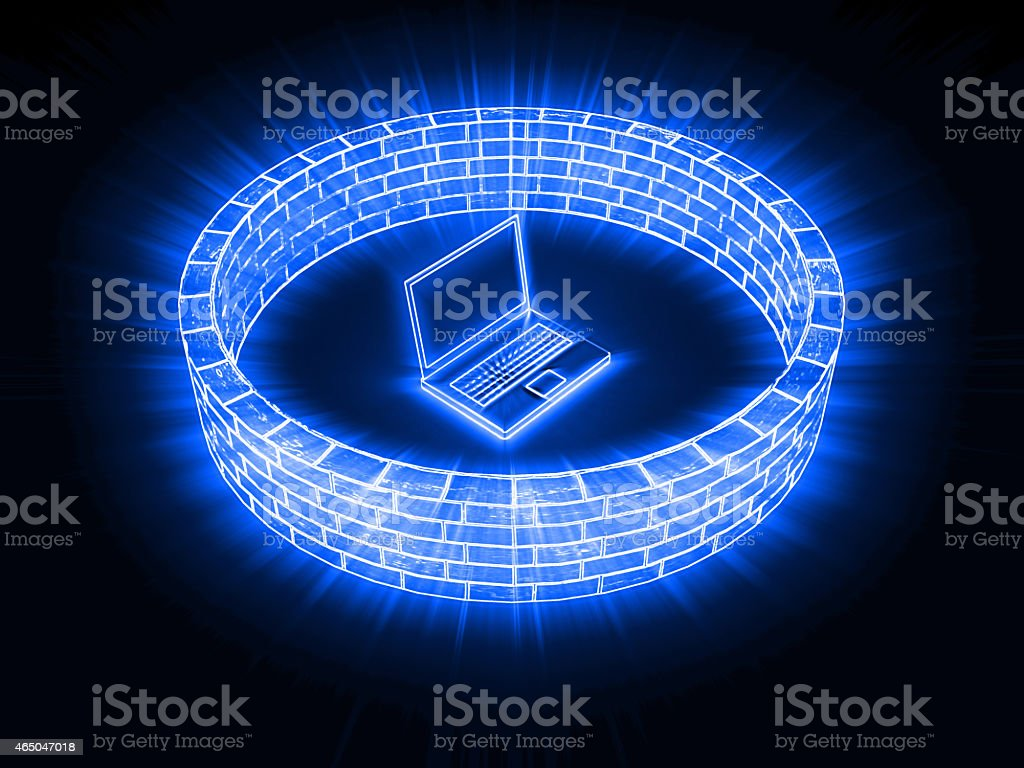 Network security firewall stock photo