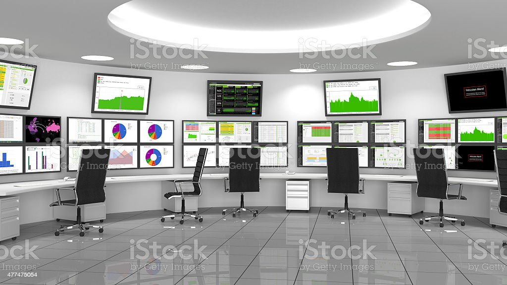 Network / Security Operations Center (NOC / SOC) stock photo