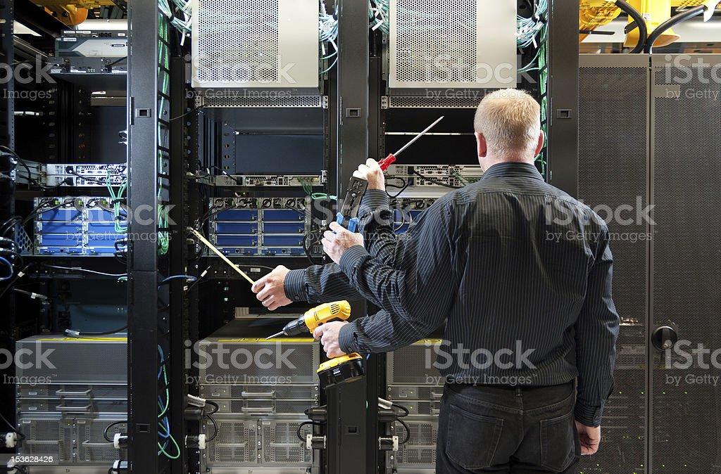 Network server installation royalty-free stock photo