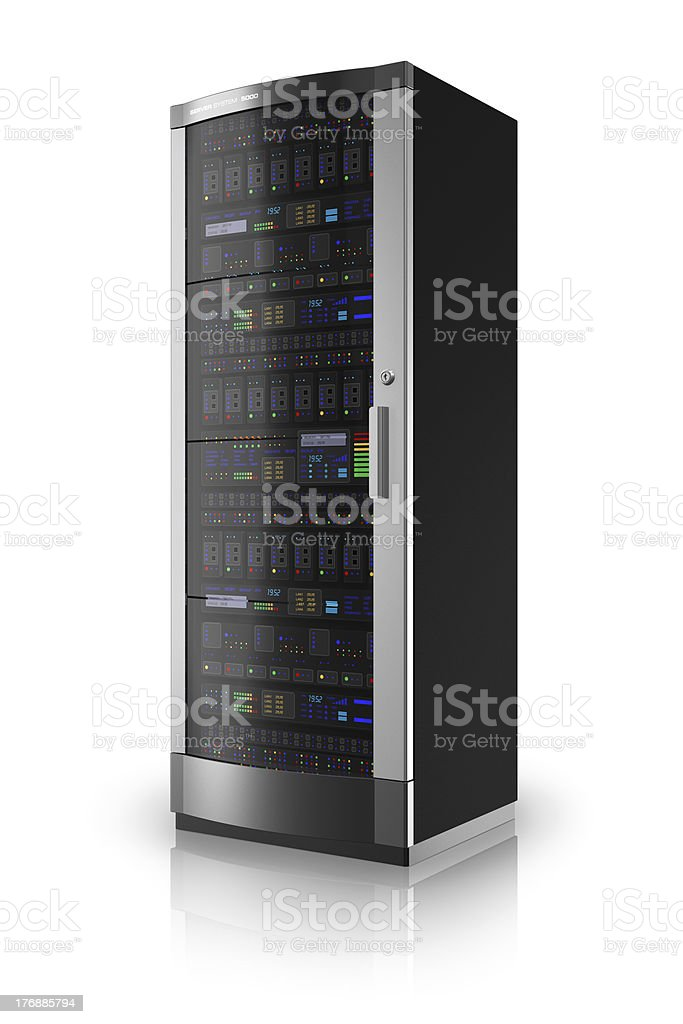 Network server rack stock photo