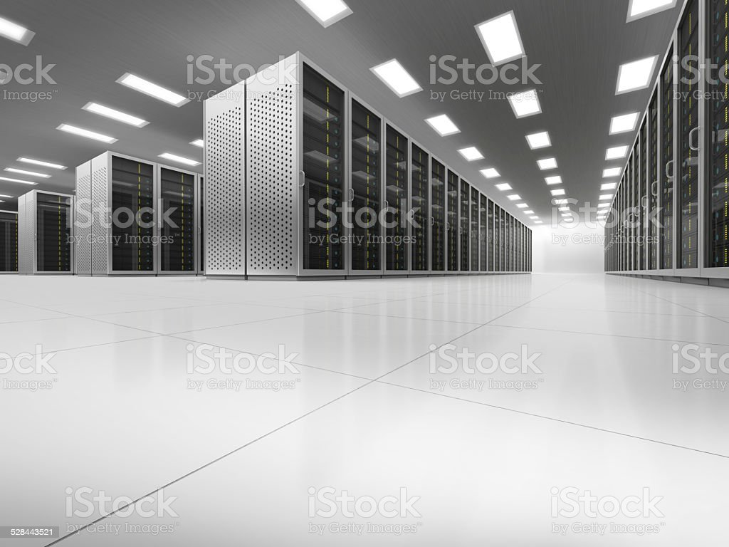 Network server room Low-angle stock photo
