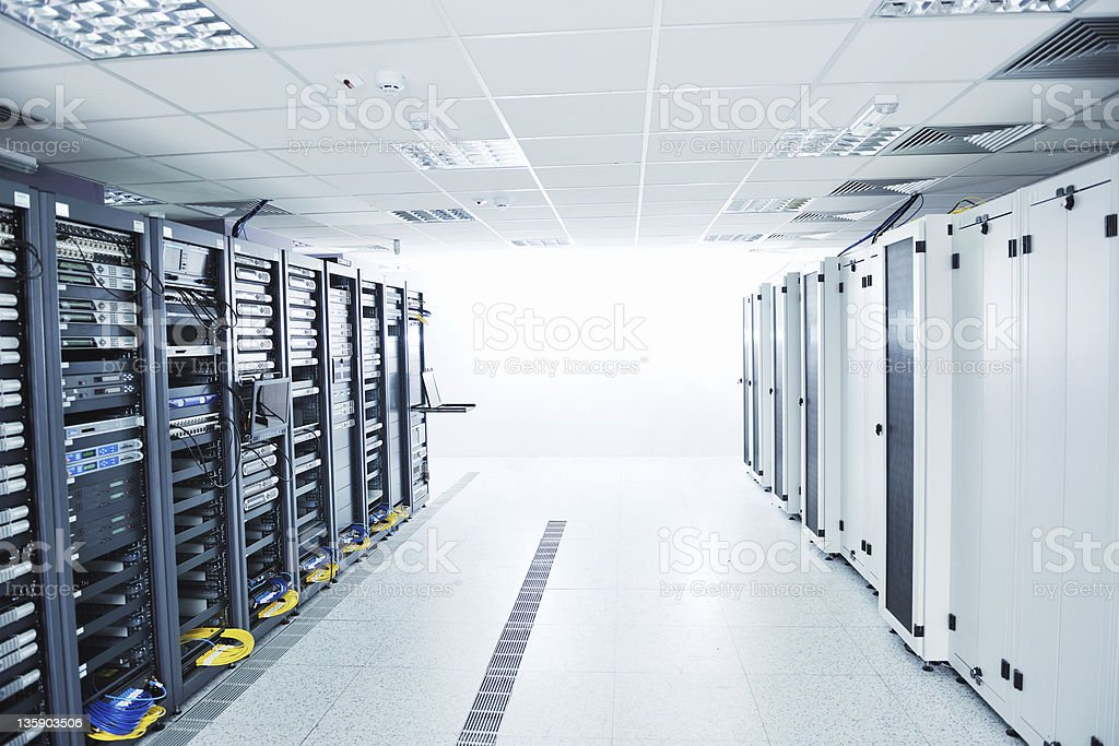 network server room royalty-free stock photo