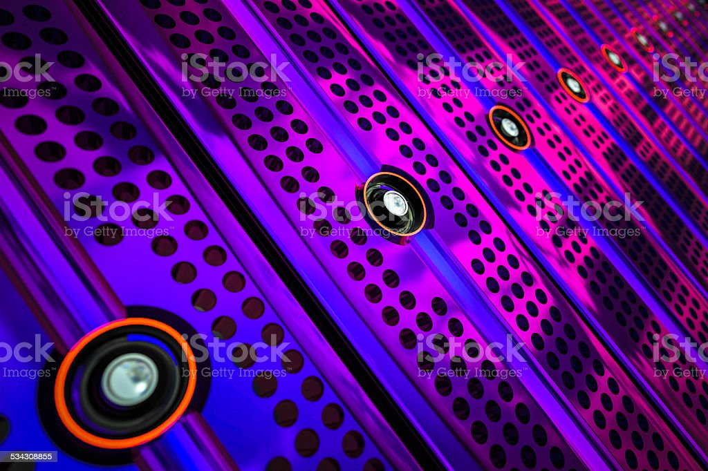 Network servers cloud computing stock photo