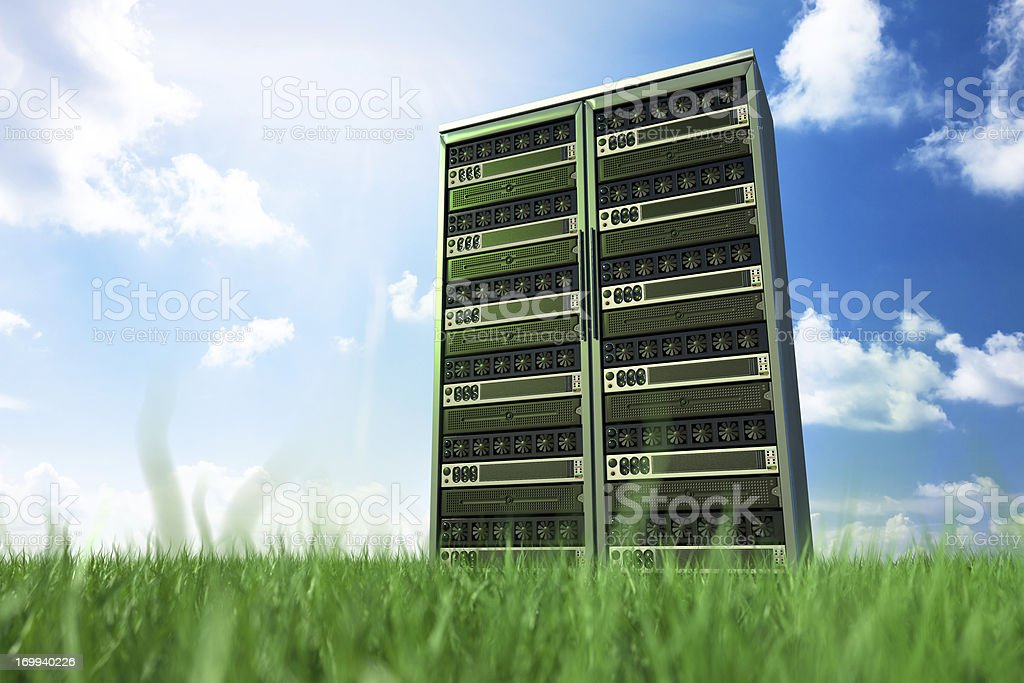 network servers in nature royalty-free stock photo
