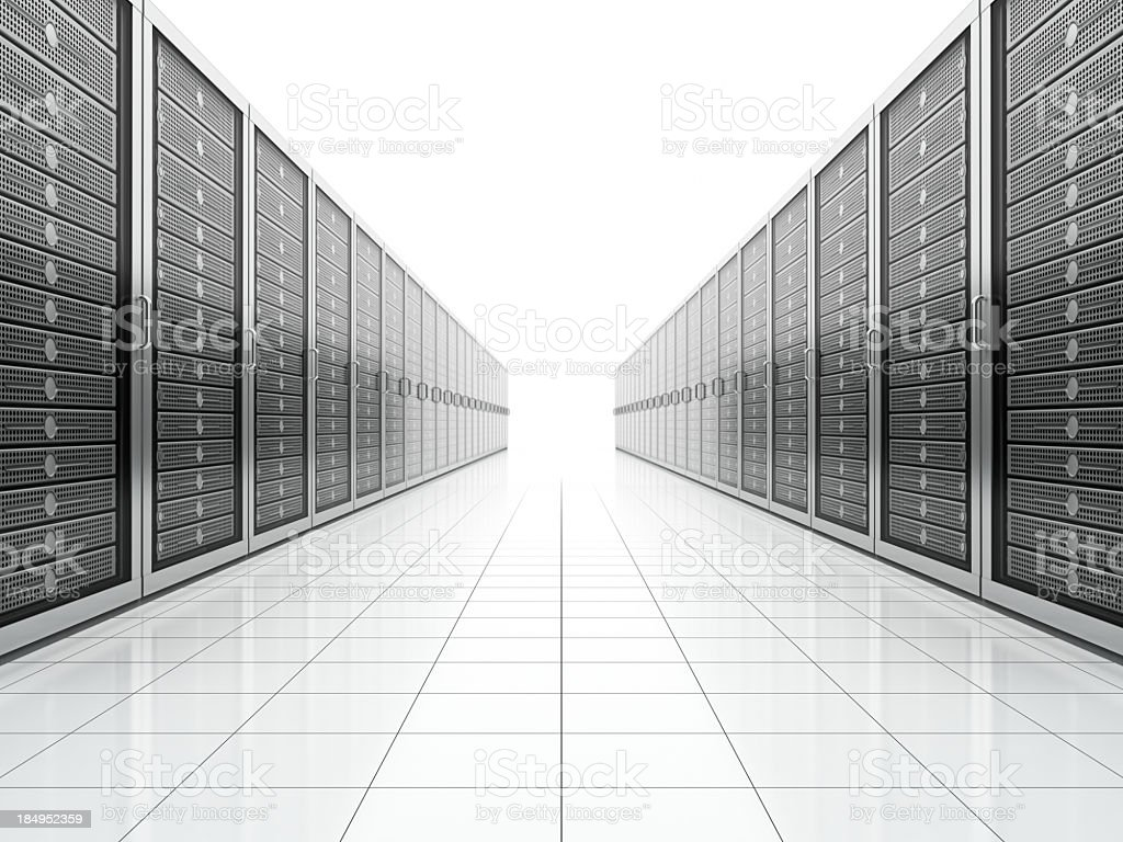 Network Servers royalty-free stock photo