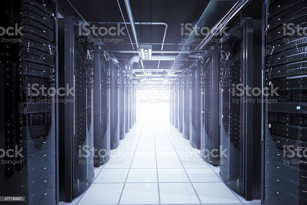 Network servers racks royalty-free stock photo