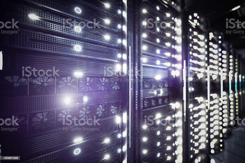 Network servers racks stock photo